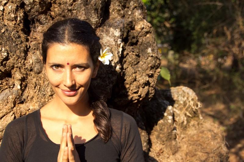 Anouk in frangipani Namaste