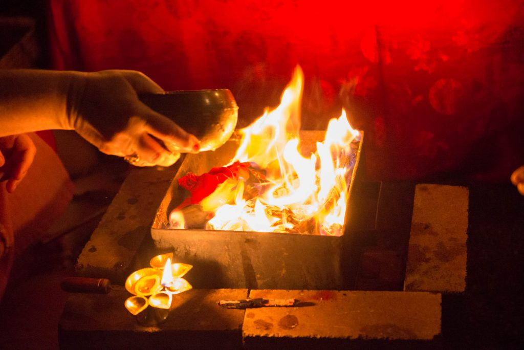 Fire-Puja-ceremony